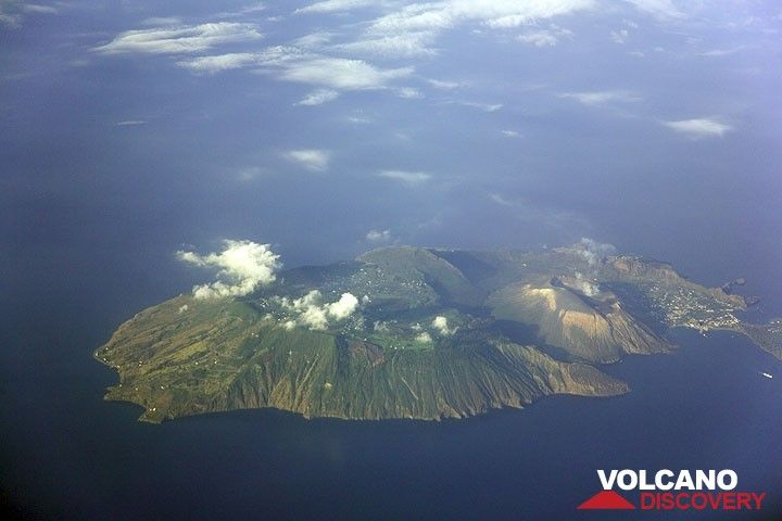 Photo of the Month - by Tom Pfeiffer: Aerial view of Vulcano