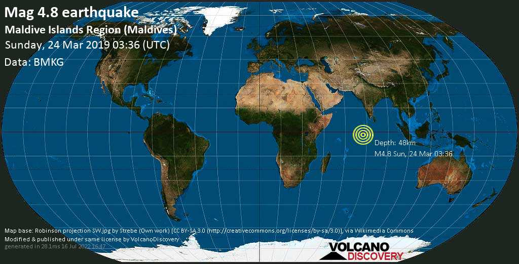 Earthquake Info M4 8 Earthquake On Sunday 24 March 2019