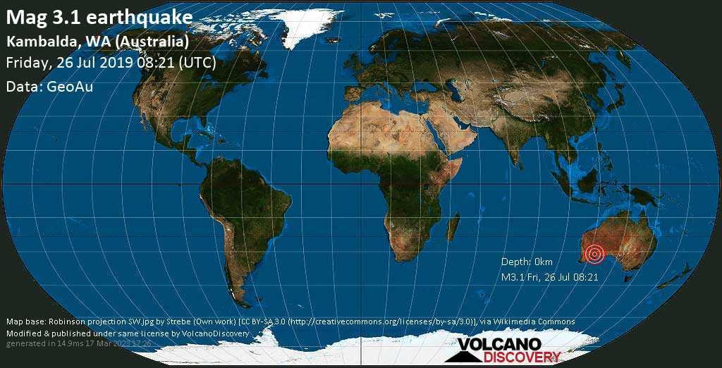 Map Of Australia Great Victoria Desert.Earthquake Info M3 2 Earthquake On Friday 26 July 2019 08 20 Utc