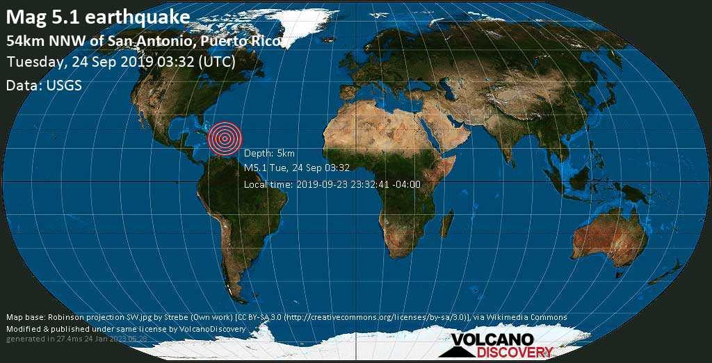 Erdbeben Info : Erdbeben der Stärke M5.1 am Dienstag, 24 ...