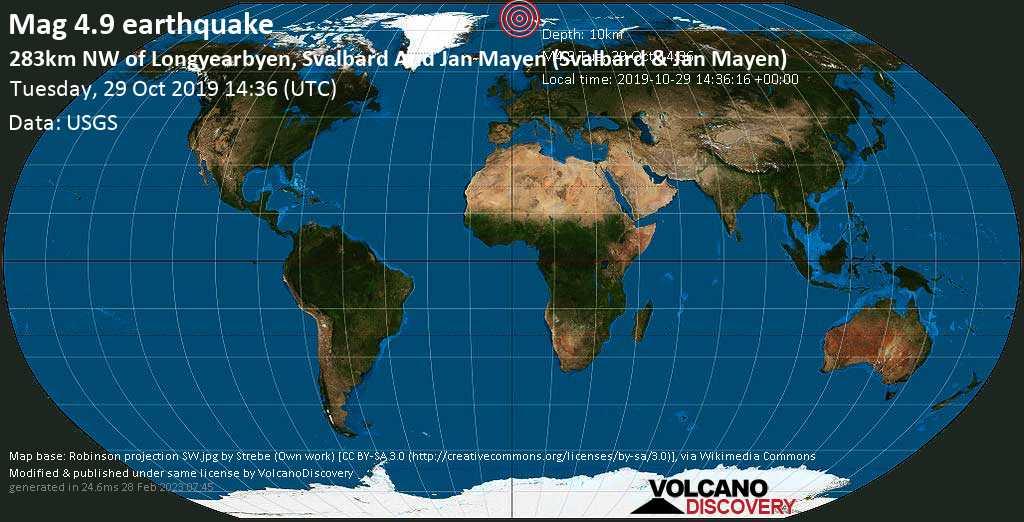 Erdbeben Info : Erdbeben der Stärke M4.9 am Dienstag, 29 ...
