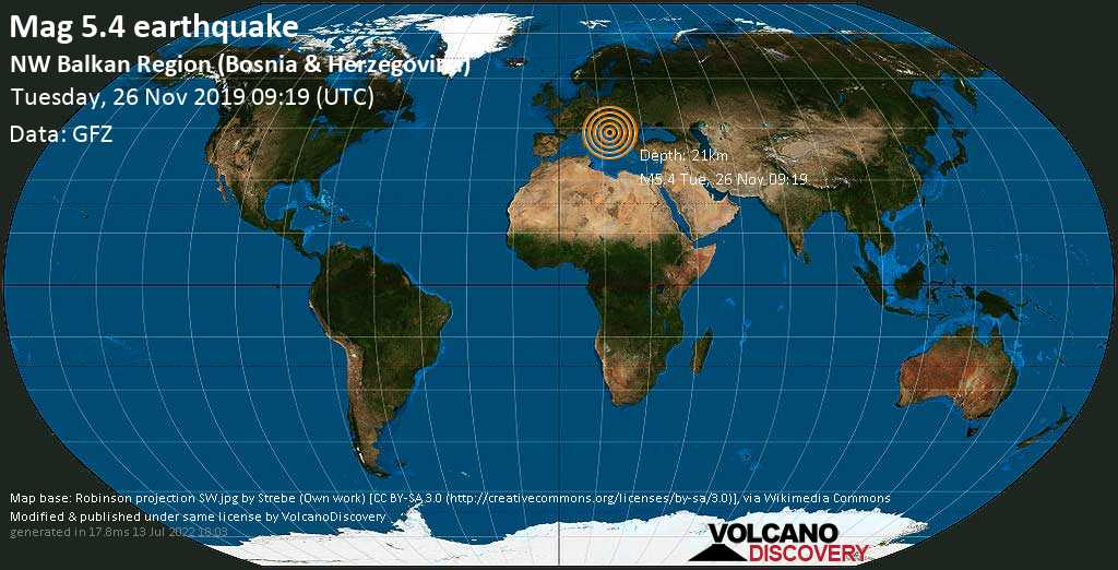 Erdbeben Info Erdbeben Der Starke M5 4 Am Dienstag 26 November