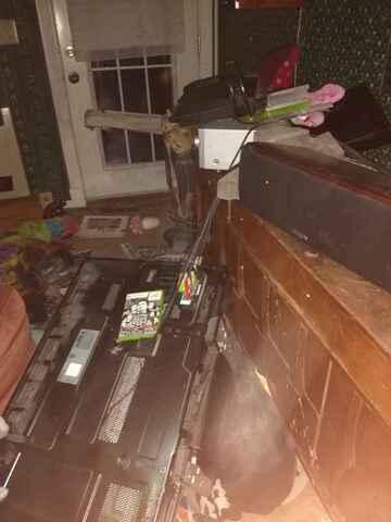 Damage to HDTV (public domain)