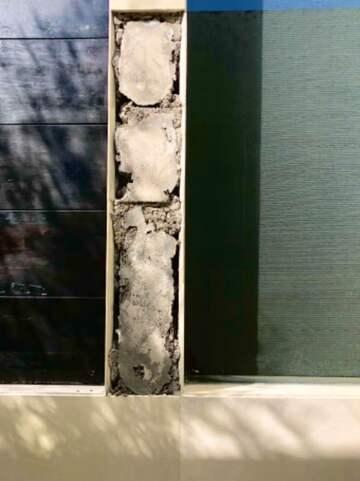 Tile fell from wall outside my villa in Seminyak, Bali. (public domain)