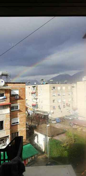 """this buildings in tirana are """"well built"""" picture before eartquake (public domain)"""
