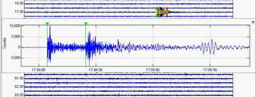 P and S waves of Muswellbrook Earthquake (public domain)