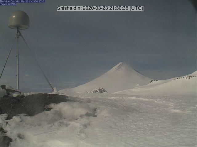 Shishaldin volcano on 23 March (image: AVO)