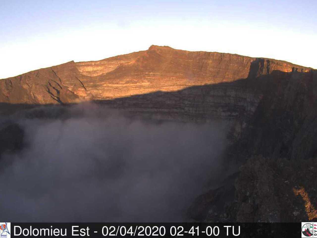 Piton de la Fournaise volcano today (image: OVPF)