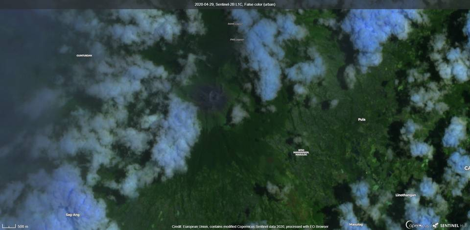 Canlaon volcano from satellite (image: Sentinel 2)