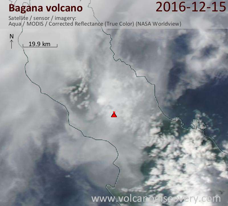 Satellite image of Bagana volcano on 15 Dec 2016