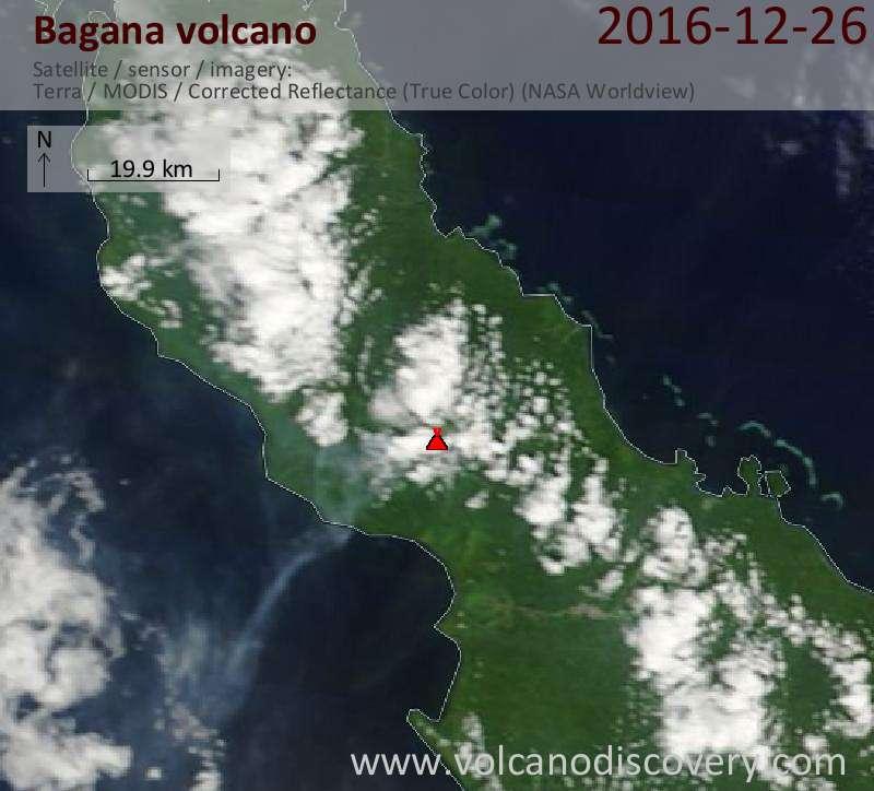 Satellite image of Bagana volcano on 26 Dec 2016