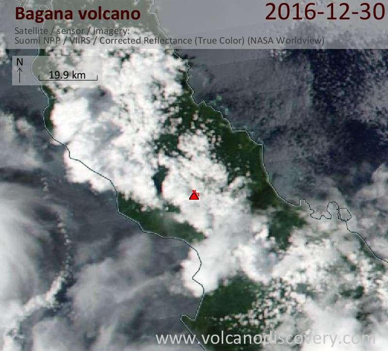 Satellite image of Bagana volcano on 30 Dec 2016