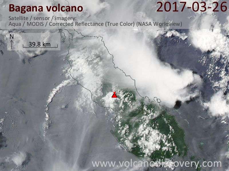 Satellite image of Bagana volcano on 26 Mar 2017
