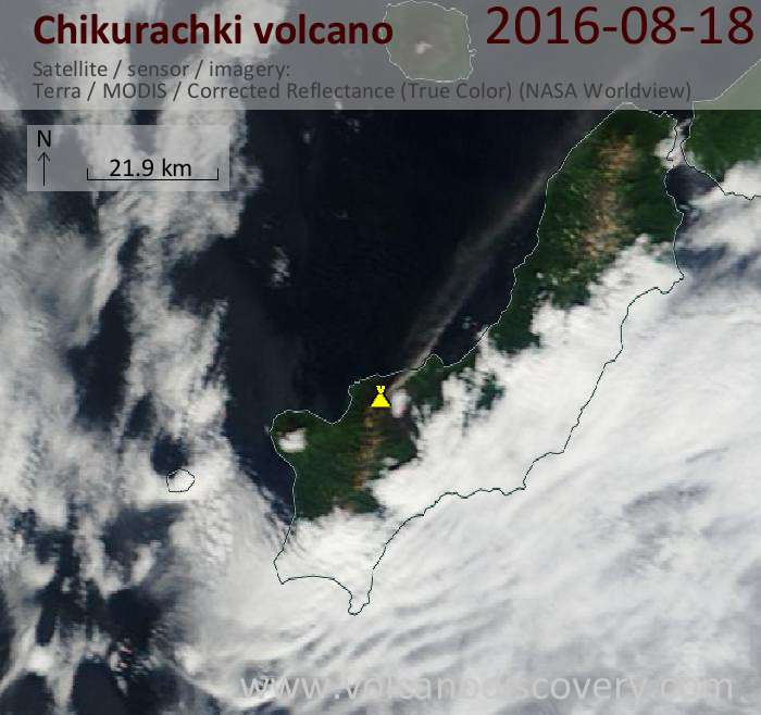 Newest satellite image of Chikurachki