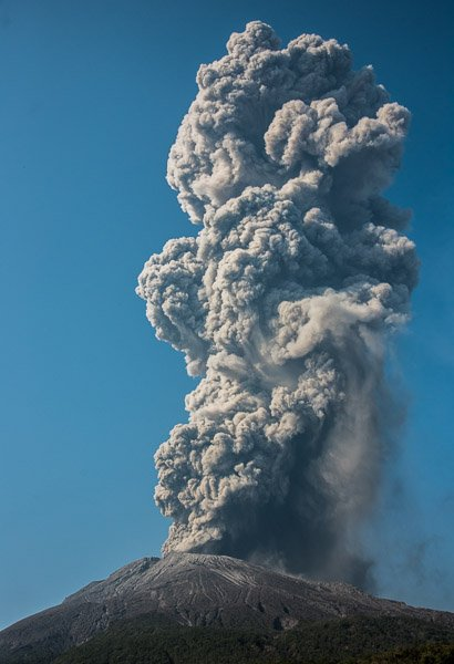 Large vulcanian explosion of Sakurajima on 26 Mar 2018