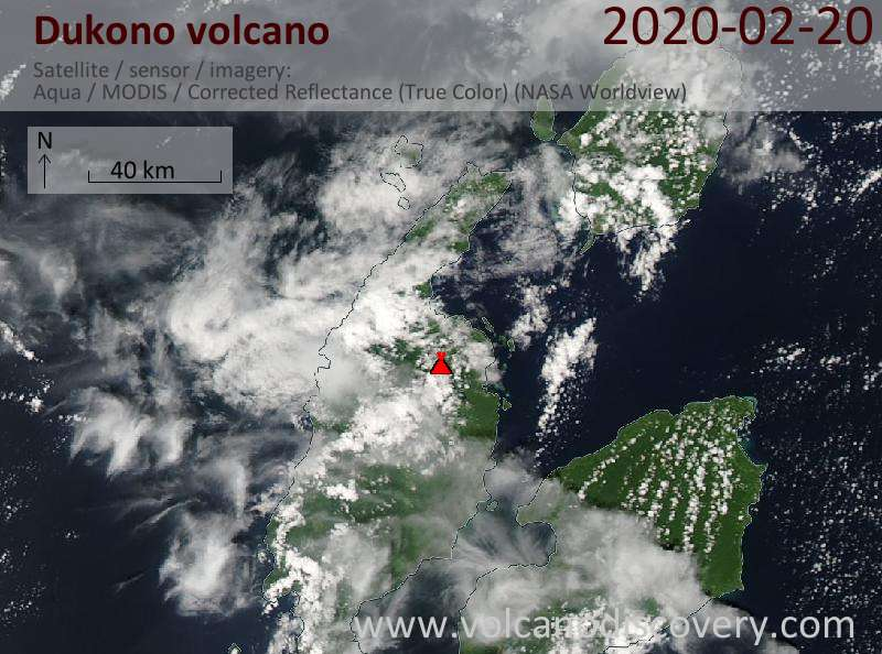 Dukono Volcano Volcanic Ash Advisory: CONTINUOUS VA EMISSION TO FL070 OBS EXT SW AT 21/0040Z to 7000 ft (2100 m)