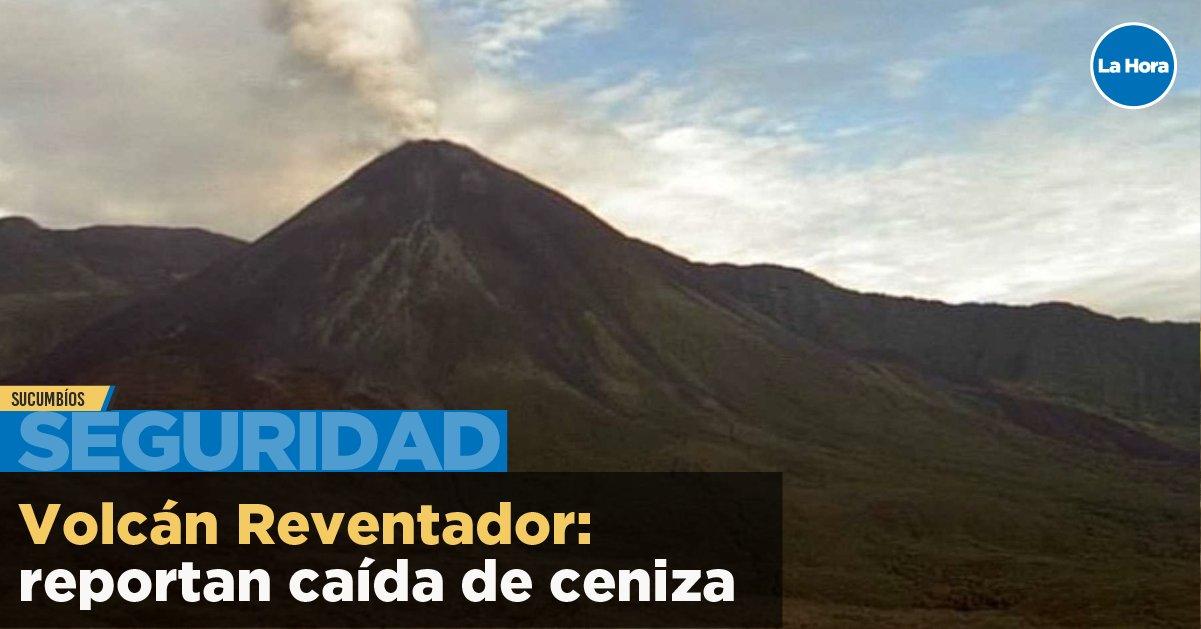 Explosion from Reventador volcano (image: La Hora Ecuador twitter)