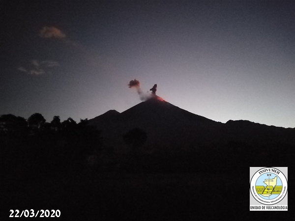 Strombolian explosion from Fuego volcano (image: INSIVUMEH)