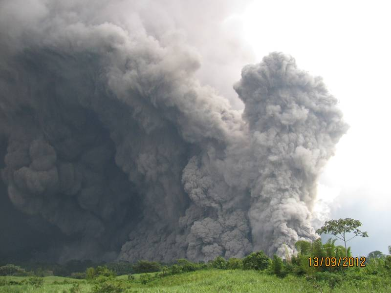 Pyroclastic flow from Fuego (INSIVUMEH)