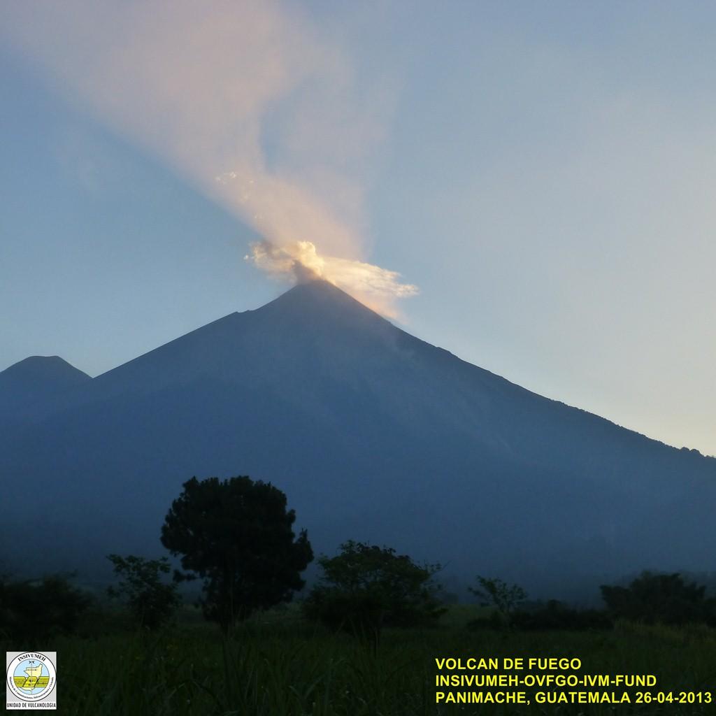 Fuego volcano yesterday morning