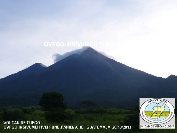 Fuego volcano this morning (? - certainly not 28 Oct 2013)