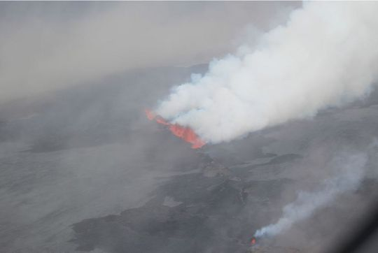 Aerial view of the eruption on 1 Sep (Icelandic Coast Guard)