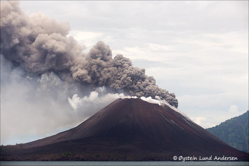 Explosion from Krakatau on 28 March 2013 (Photo: Oystein Lund Andersen)