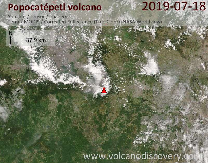 Popocatépetl Volcano Volcanic Ash Advisory: NO VA OBS IN