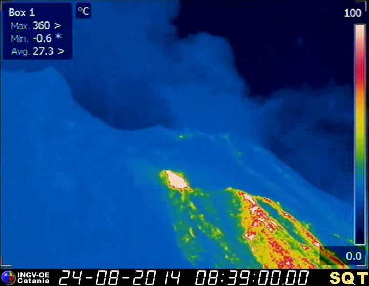 Thermal image of the upper Sciara del Fuoco of Stromboli