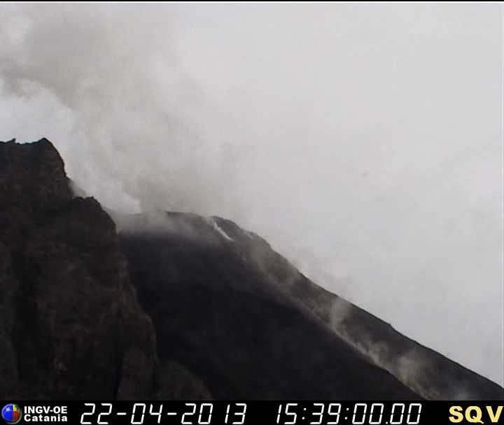 Webcam image of the crater area of Stromboli (INGV)