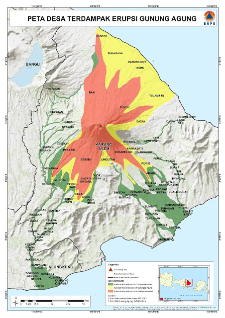 Agung Volcano Bali Indonesia Alert Level Raised Volcanodiscovery