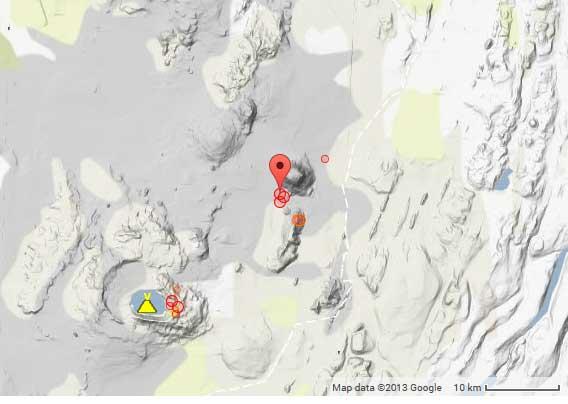 Recent earthquakes near Askja volcano in Iceland