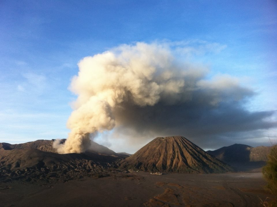 Bromo volcano this morning (PVMBG)