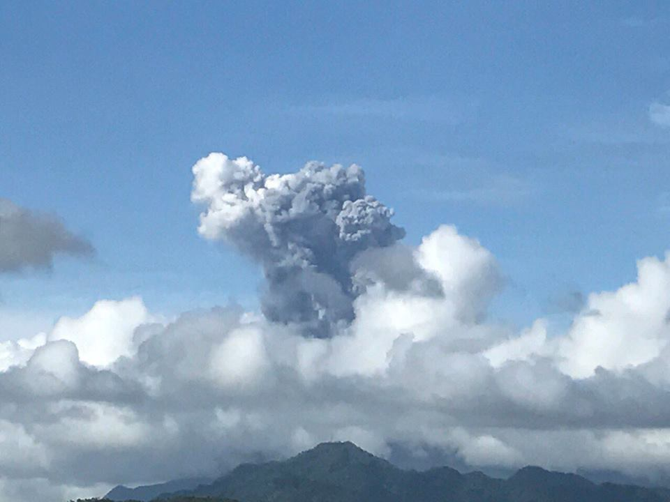Phreatic explosion at Bulusan this afternoon (image: PHILVOLCS)