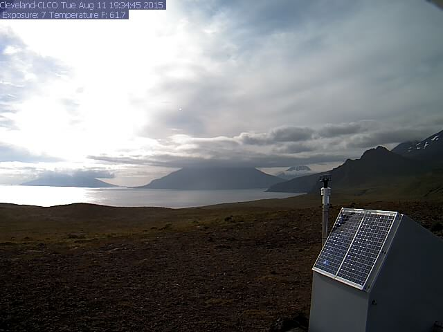 Webcam view of Cleveland volcano 11 Aug