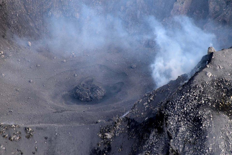 Colima's new lava dome seen on 19 Feb (image: Universidad de Colima / facebook)