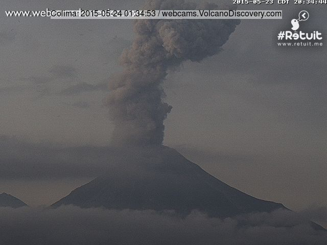 Eruption at Colima last evening (local time)