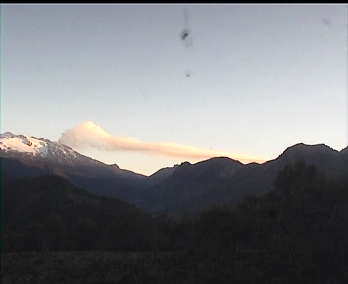 Webcam image of Copahue volcano this morning