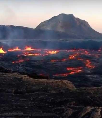 The lava lake of Erta Ale seen in late Dec 2015 (image: Enku Mulugheta)
