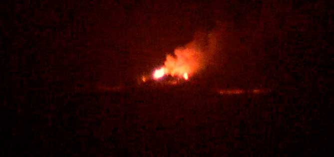 Lava fountains on the main fissure at the Holuhraun eruption this evening (Mila webcam)