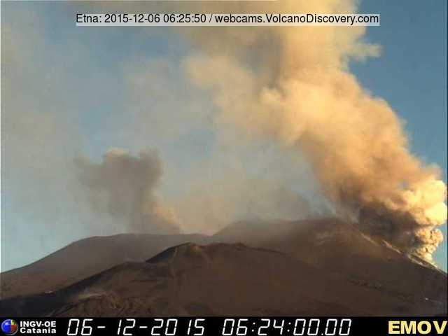 Ash plume from Etna's New SE crater (r)