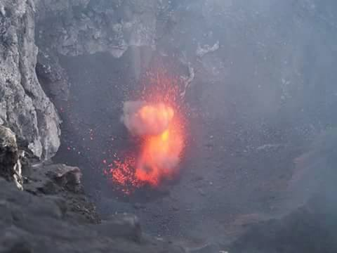 Strombolian activity inside Etna's Voragine crater (photo: Biagio Ragonese / EtnaWeb)