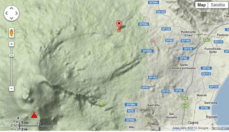 Locatie van de bevingen vanochtend (de 2 bevingen van M3.0 en 3.2 op 04: 50 en 05: 04 zijn bijna op dezelfde plek en vormen een stip op de kaart)