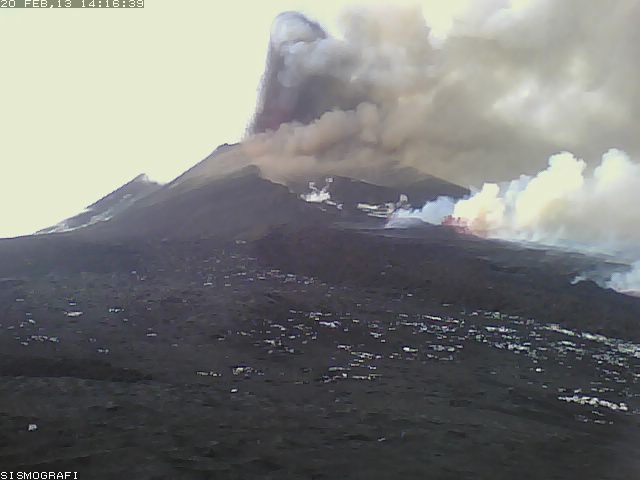 Etna during the 3rd New SE crater paroxysm