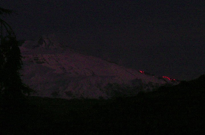 Photo taken around 06 h local time (GMT+1) on 1 January 2008, from Boris' home in Trecastagni on the southeast side of Etna.