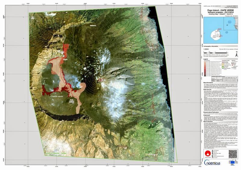 Map of the lava flow field 28 Dec 2014. (Copernicus / European Union)