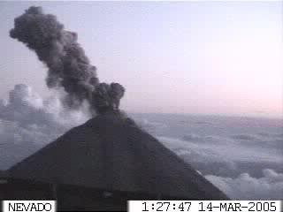Webcam photo of Colima volcano