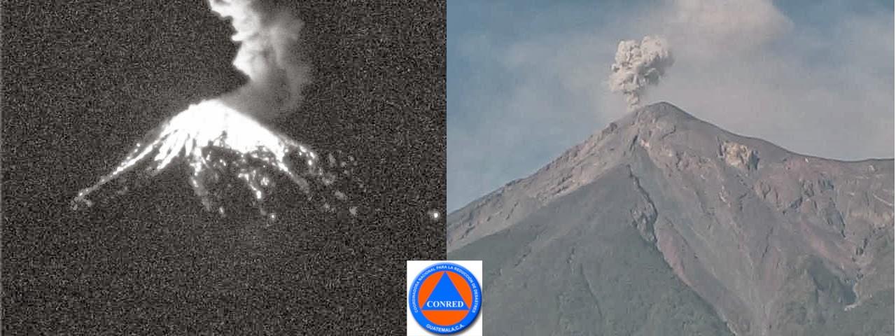 Strombolian activity from Fuego volcano (CONRED)