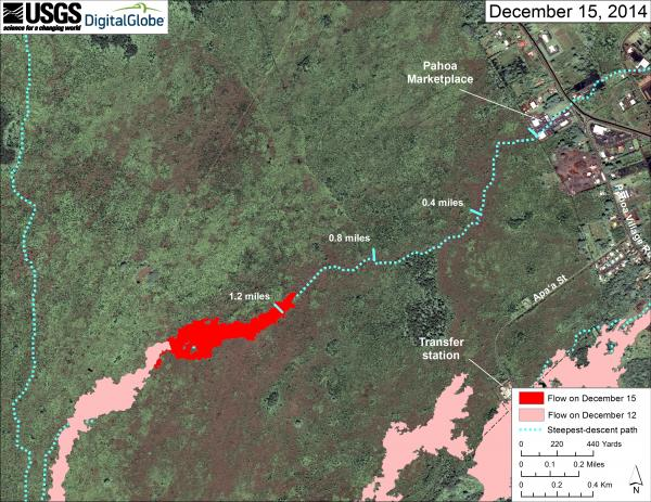 Lava flow map as of yesterday (USGS)