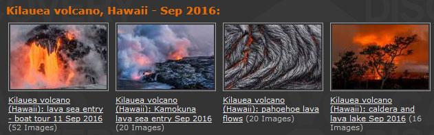 New image galleries from Kilauea volcano, Hawaii